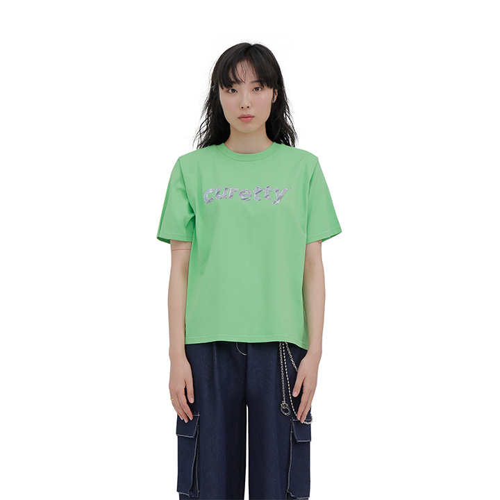 C METAL LOGO T SHIRT_GREEN