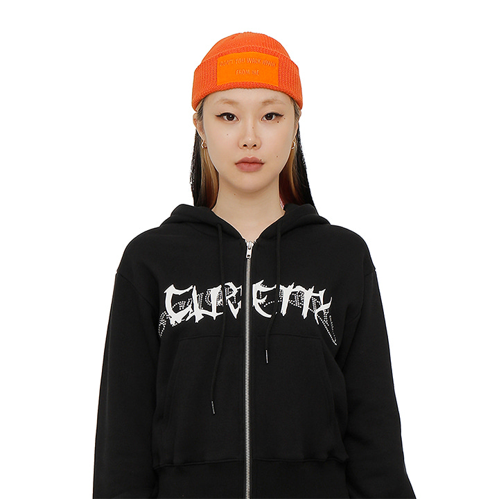 C VELCRO WAPPEN BEANIE_ORANGE