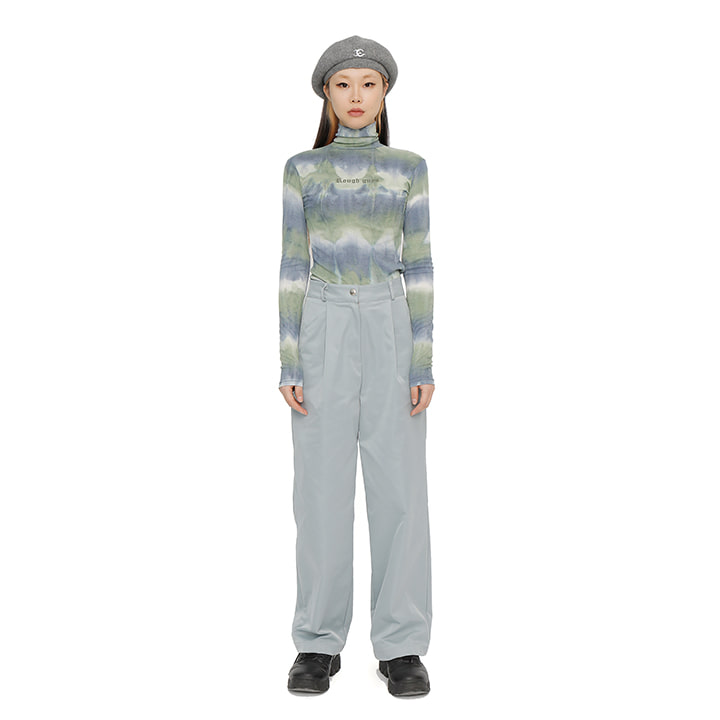 C GLOSS WIDE PANTS_GREY