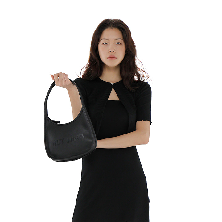 C TWO WAY SHOULDER BAG_BLACK