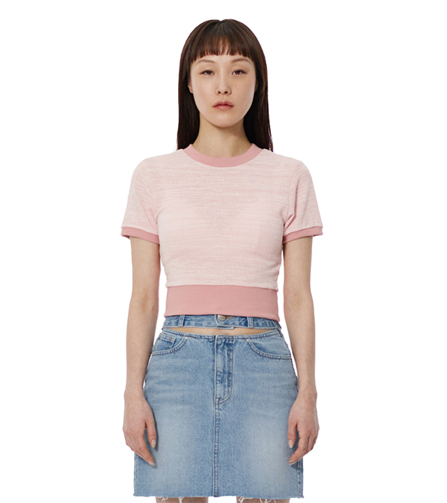 C MULTI STRIPE T-SHIRT_LIGHT PINK