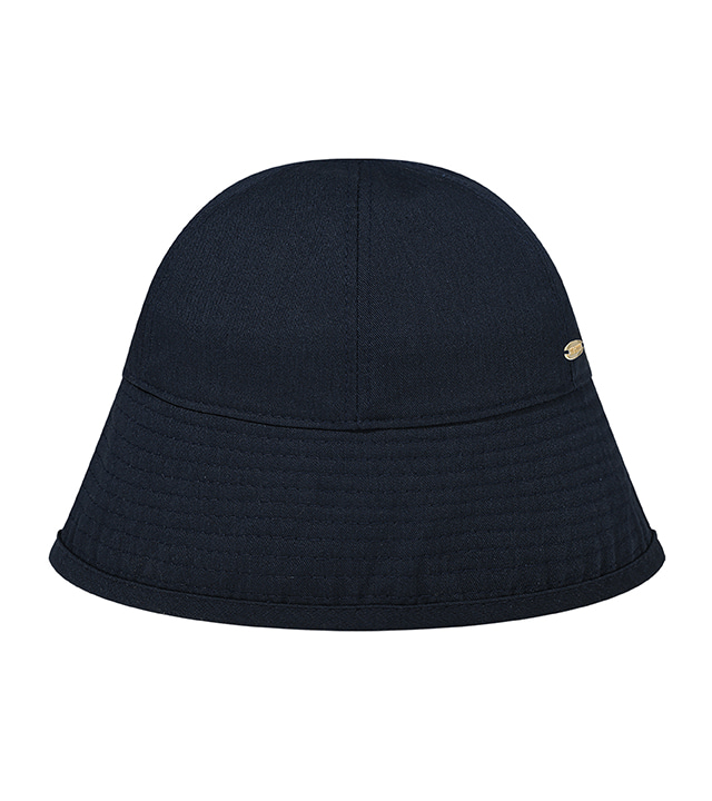 C METAL BROOCH BUCKET HAT_NAVY
